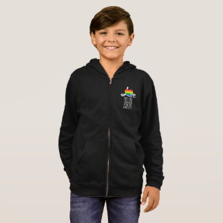 Love Not Hate (Rainbow) Boy's Zip Hoodie
