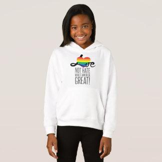 Love Not Hate (Rainbow) Girl's Hoodie