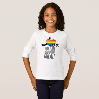 Love Not Hate (Rainbow) Girl's Long Sleeve T-Shirt