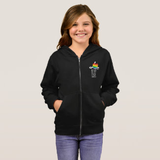 Love Not Hate (Rainbow) Girl's Zip Hoodie