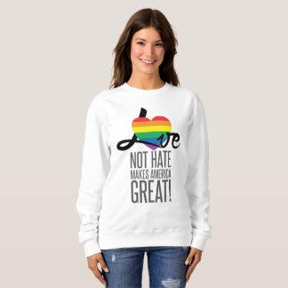 Love Not Hate (Rainbow) Women's Basic Sweatshirt