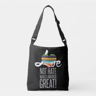 Love Not Hate (SWM) Dark Sling Bag