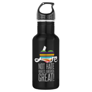 Love Not Hate (SWM) Dark Water Bottle