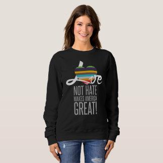 Love Not Hate (SWM) Dark Women's Basic Sweatshirt