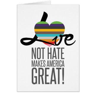 Love Not Hate (SWM) Greeting Card