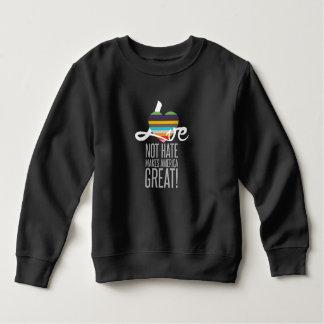 Love Not Hate (SWM) Toddler Dark Sweatshirt