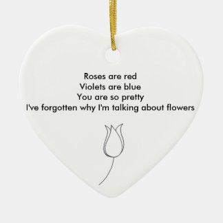 Love Note Ceramic Heart Decoration