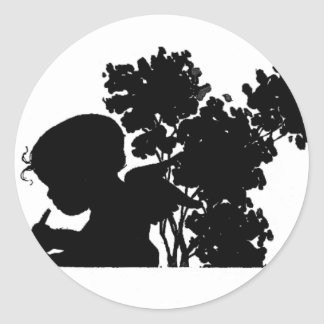 Love note from an angel round sticker