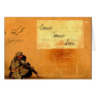 Love Note on the Wall Military Soldier Card