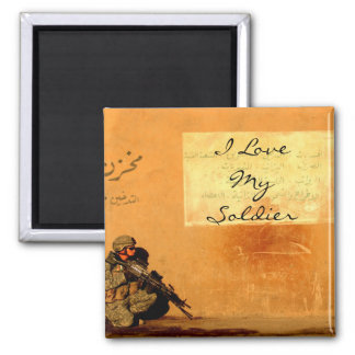 Love Note on the Wall Military Soldier Magnet