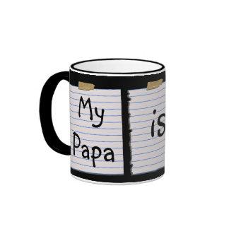 Love Notes For Papa Ringer Mug