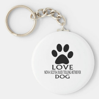 LOVE NOVA SCOTIA DUCK TOLLING RETRIEVER DOG DESIGN KEY RING
