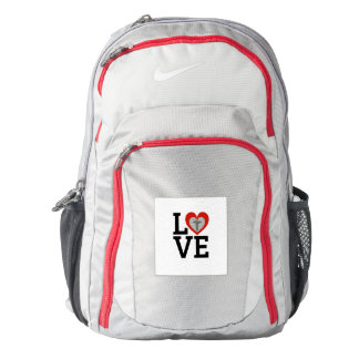 Love Nurse Pride Caduceus Nike Backpack for Nurses