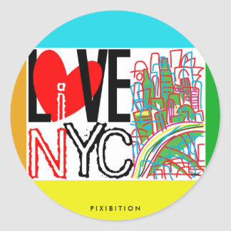 Love NYC & Live In NYC Sticker