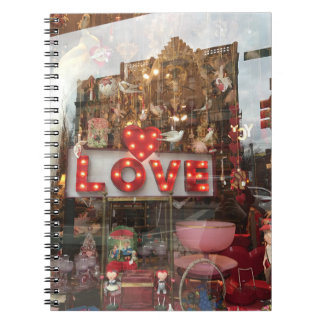 LOVE NYC Valentine's Day Store Window Heart Sign Notebook