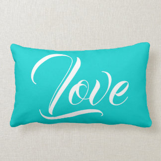 Love Ocean Teal II Solids Lumbar and Throw Pillows