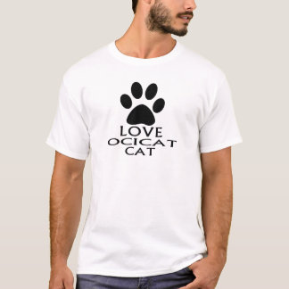LOVE OCICAT CAT DESIGNS T-Shirt