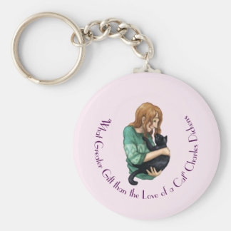 """Love of a Cat"" Key Ring"
