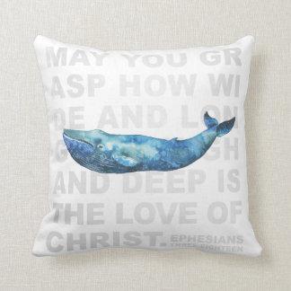 Love of Christ Ephesians 3:18 Modern Whale Pillow