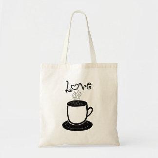 Love of Coffee Budget Tote Bag