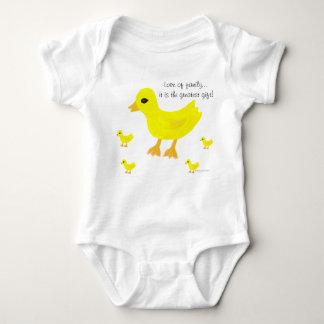 Love of Family Yellow Ducks Hospital Name Baby Bodysuit