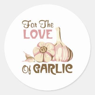 Love of Garlic Classic Round Sticker