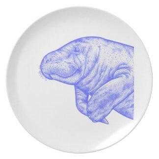 LOVE OF MANATEE DINNER PLATE