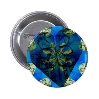 Love of money oragami pinback button