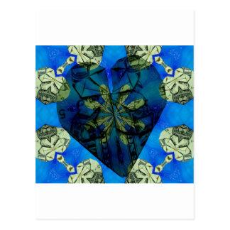 Love of money oragami postcard