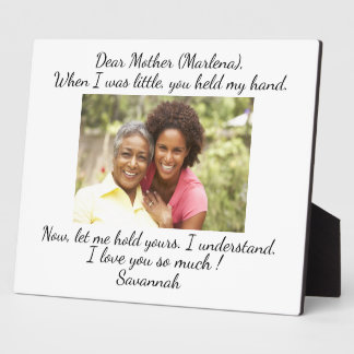 Love of Mother, Father, Sister, Family ... Anyone Plaque