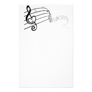 Love of Music Customized Stationery