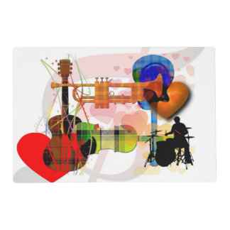 Love of Music - Musical Design Laminated Place Mat