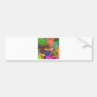Love of Nature with multicolor background. Bumper Sticker