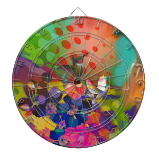 Love of Nature with multicolor background. Dartboard