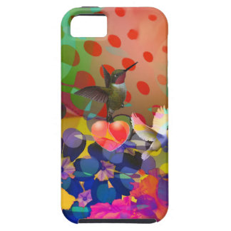 Love of Nature with multicolor background. iPhone 5 Case