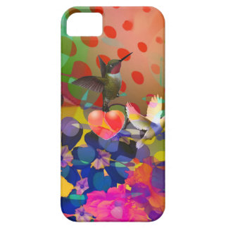 Love of Nature with multicolor background. iPhone 5 Covers