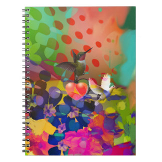 Love of Nature with multicolor background. Notebooks