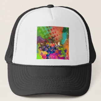 Love of Nature with multicolor background. Trucker Hat