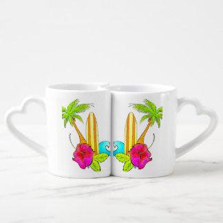 Love of Surf Coffee Mug Set Bright