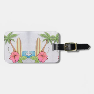 Love of Surf Peaceful Blue Luggage Tag