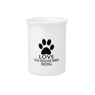 LOVE OLD ENGLISH SHEEP Dog DESIGNS Pitcher