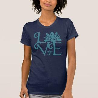 Love-Om-Namaste T-Shirt Teal Dark Blue