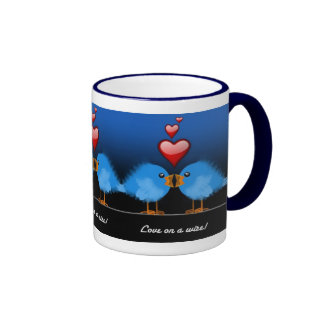LOVE ON A WIRE! RINGER MUG