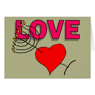 Love on Chanukah 101 Greeting Card