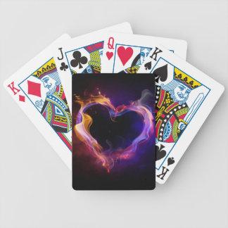 Love on Fire Poker Deck