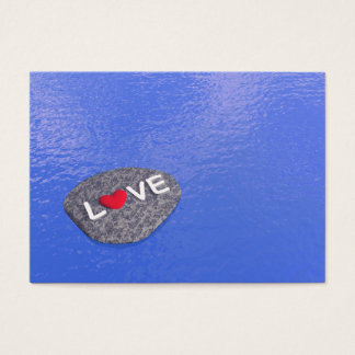 Love on stone - 3D render Business Card