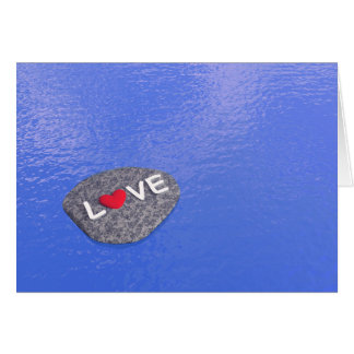 Love on stone - 3D render Card
