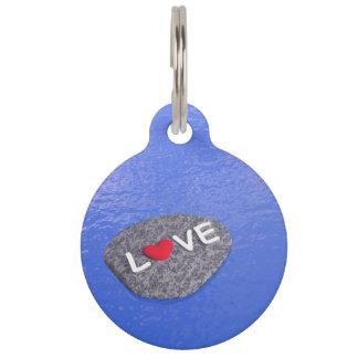 Love on stone - 3D render Pet ID Tag