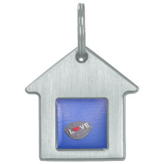 Love on stone - 3D render Pet Name Tag