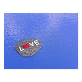 Love on stone - 3D render Postcard